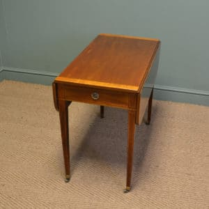 Elegant Victorian Walnut Antique Drop Leaf Table