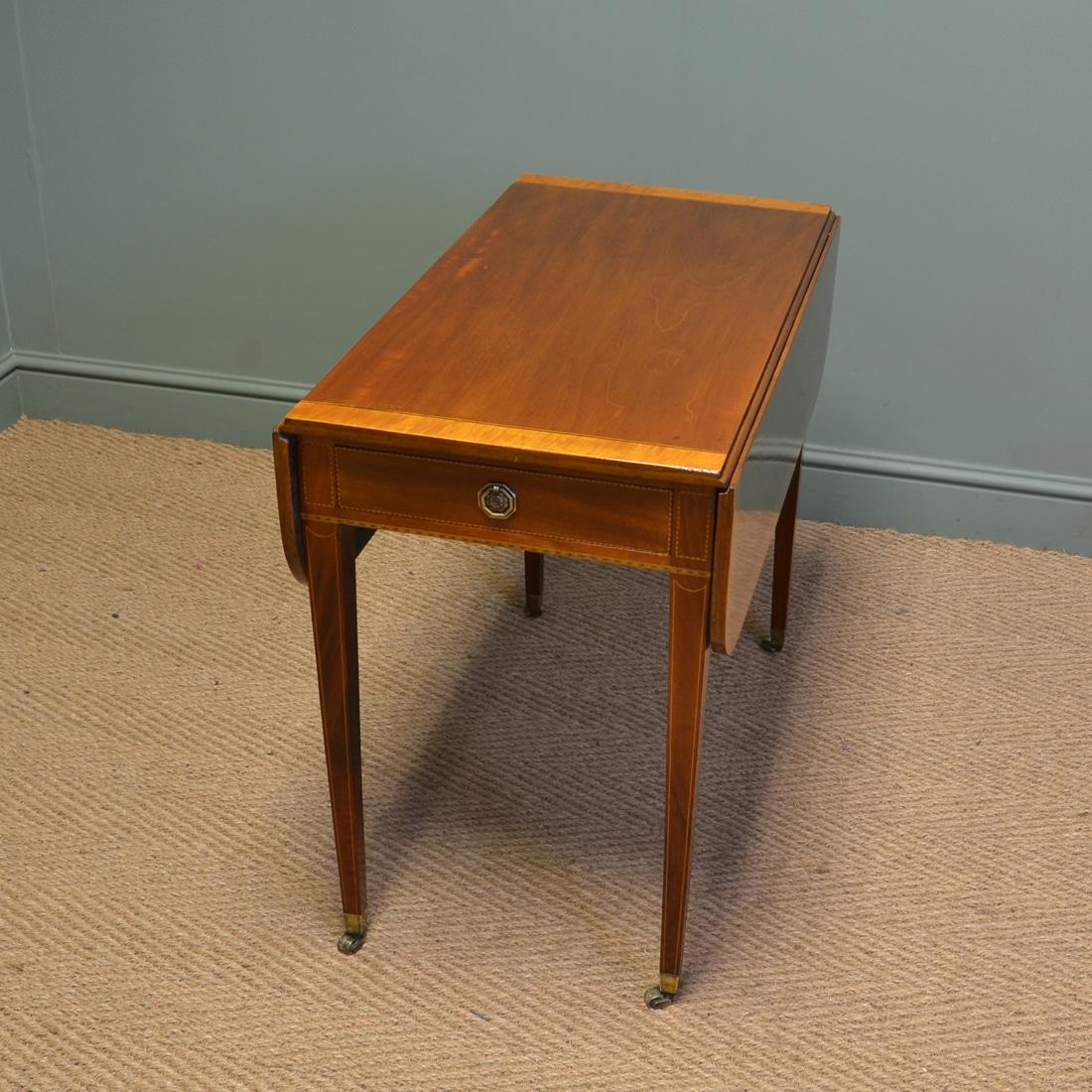 Elegant Victorian Walnut Antique Drop Leaf Table Antiques World