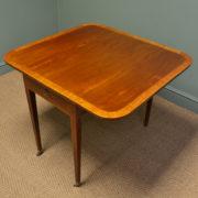 Elegant Victorian Walnut Antique Drop Leaf Table