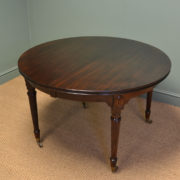 Quality Edwardian Walnut Antique Extending Dining Table by Selbat