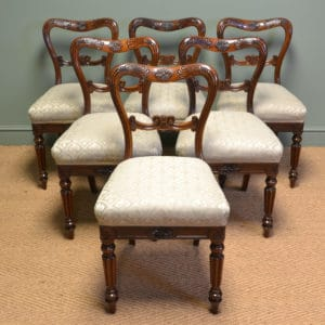 Spectacular Set Of Six Gillows Rosewood Antique William IV Dining Chairs