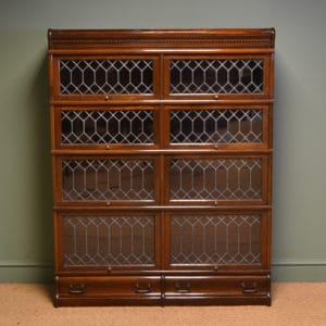 View Spectacular Edwardian Antique Globe Wernicke Double Antique Barristers  Bookcase
