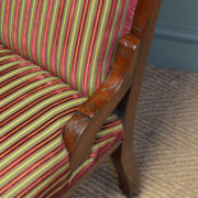 Striking Victorian Walnut Upholstered Antique Ladies Chair