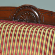 Striking Victorian Walnut Upholstered Antique Arm Chair