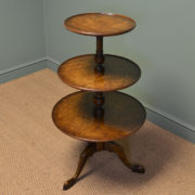 Stunning Pollard Oak Three Tier Occasional Antique Edwardian Table