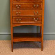Elegant Edwardian Mahogany Antique Music Cabinet