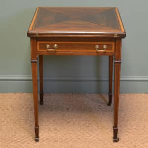 Quality Edwardian Mahogany Antique Envelope Card Table