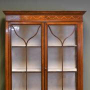 Elegant Edwardian Inlaid Antique Mahogany Display Cabinet