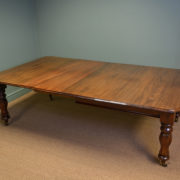 Quality Victorian Mellow Mahogany Antique Extending Dining Table