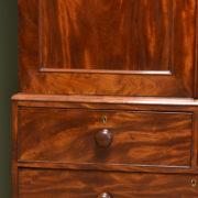 Spectacular Figured Mahogany Regency Antique Linen Press