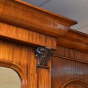Spectacular William IV Break Fronted Figured Mahogany Antique Triple Wardrobe