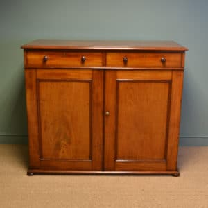 Quality Victorian Figured Mahogany Antique Linen Press / Wardrobe