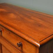 Quality Victorian Figured Mahogany Antique Linen Press / Wardrobe