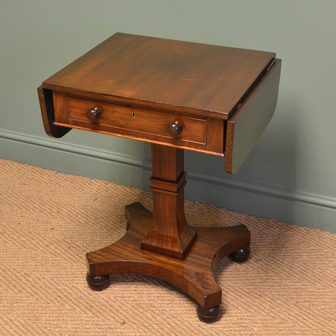 Small victorian antique mahogany side sofa table for Sofa table antique