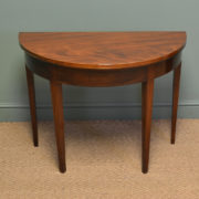 Elegant D Shaped Regency Mahogany Antique Console / Games Table