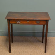 Beautiful Country Regency Mahogany Antique Side Table