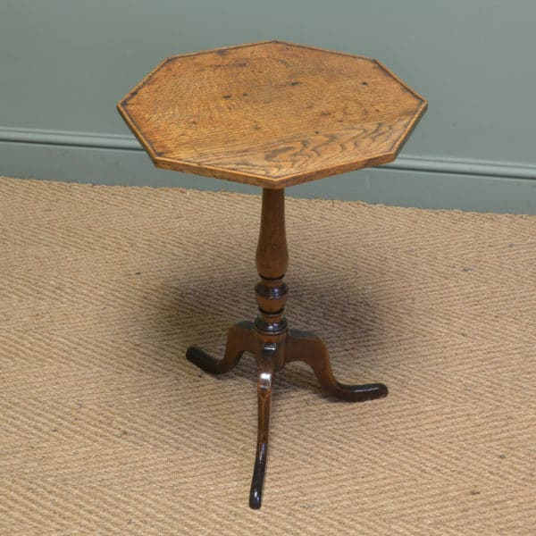 Beautifully Figured Regency Oak Antique Occasional Table