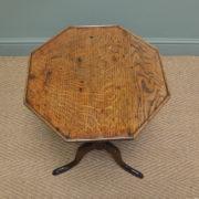 Beautifully Figured Regency Oak Antique Occasional Table