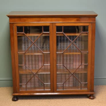 Superb Quality Edwardian Figured Mahogany Antique Astragal Glazed Bookcase