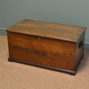 Victorian Figured Oak Antique Low Coffer