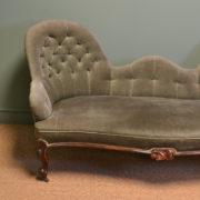 Elegant Victorian Walnut Antique Settee