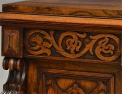 blind fret work carving