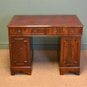 Small Victorian Mahogany Antique Pedestal Desk