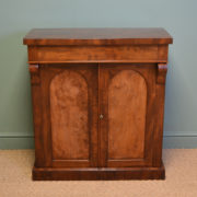 Remarkable Regency Figured Mahogany Antique Chiffonier / Cupboard