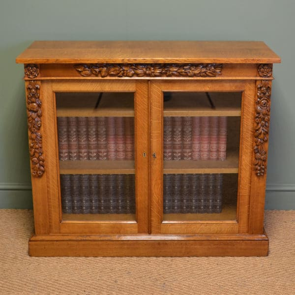 Striking Gillows of Lancaster Golden Oak Victorian Antique Bookcase