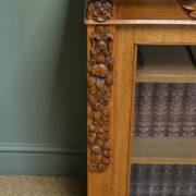 Striking Gillows of Lancaster Golden Oak Victorian Antique Bookcase