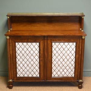 Magnificent Quality Regency Figured Mahogany Antique Chiffonier / Cupboard