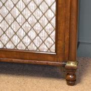Magnificent Quality Regency Figured Mahogany Antique Chiffonier / Cupboard