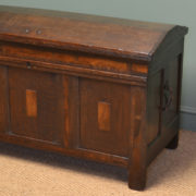 Unusual Georgian Oak Antique Dome Top Coffer