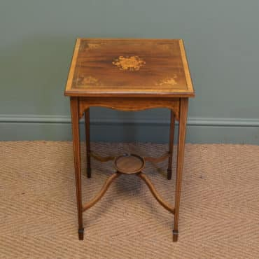Edwardian Inlaid Antique Walnut Occasional Table