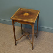 Stunning Edwardian Inlaid Antique Walnut Occasional Table