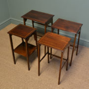 Spectacular Nest of Four Edwardian Mahogany Antique Occasional Tables