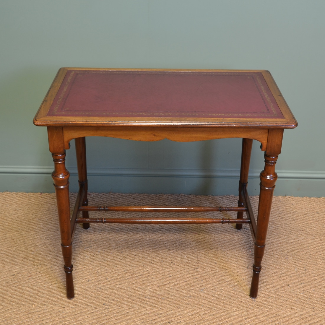 Quality victorian arts and crafts walnut antique side for Crafting desks for sale