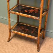 Unusual Victorian Antique Decorative Bamboo What Not / Side Table