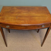 Elegant Country Victorian Mahogany Antique D End Side Table