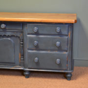 Victorian Painted Pine Antique Dresser Base / Sideboard
