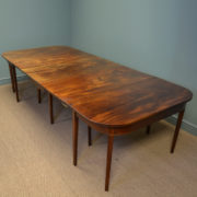 Large Georgian Country House Extending Mahogany Antique Dining Table