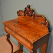 Unusual Figured Mahogany Victorian Antique Console Table