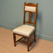 Quality Set of Six Walnut Arts & Crafts Victorian Antique Dining Chairs