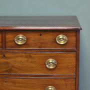 Quality Georgian Mahogany Antique Chest Of Drawers