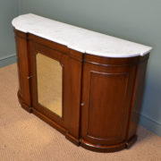 Fine Victorian Marble Topped Antique Chiffonier / Side Cabinet