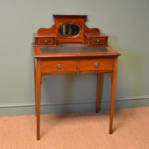 Elegant Small Edwardian Inlaid Antique Bijouterie / Writing Table