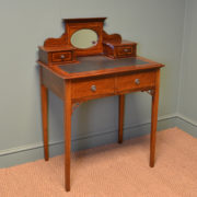 Elegant Small Edwardian Inlaid Antique Bijouterie / Writing Table