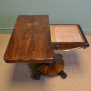 Fine Quality William IV Rosewood Antique Card / Games / Side Table