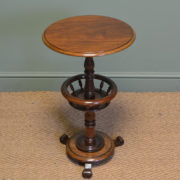 Unusual Victorian Mahogany Antique Occasional Ladies Table