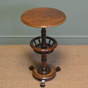 Unusual Victorian Mahogany Antique Occasional Ladies Table